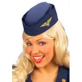 Sombrero azafata azul