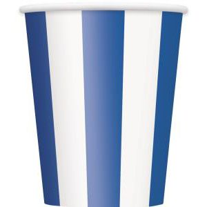 Vasos lineas azules pack 6 und