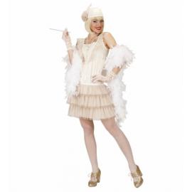 Disfraz charleston blanco