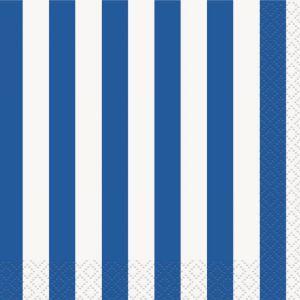 Servilletas lineas azules pack 16und