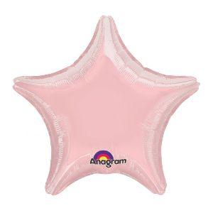 Globo helio estrella jumbo rosa pastel