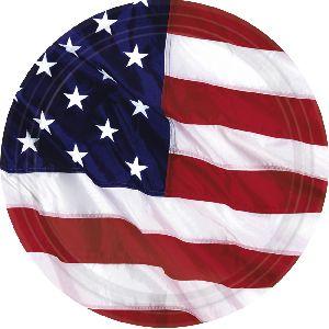 Platos bandera americana 8 und