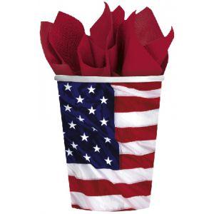 Vasos bandera americana 8 und