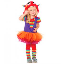 Disfraz monstruo niña arcoiris