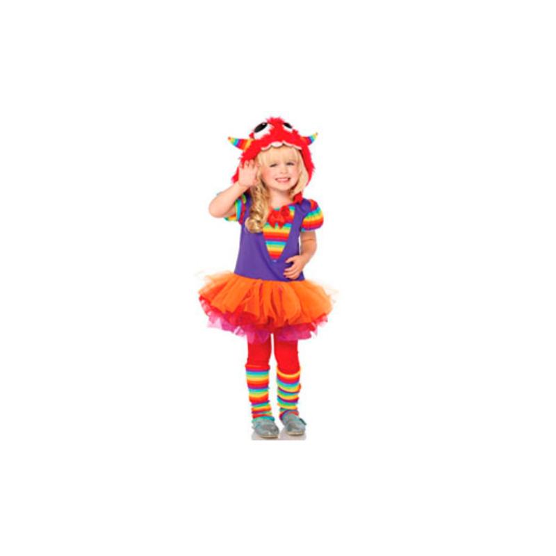 Disfraz monstruo niña arcoiris - Barullo.com