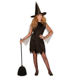 Disfraz bruja negra infantil