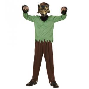 Disfraz hombre lobo con mascara infantil