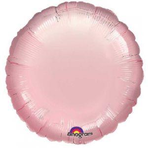 Globo helio circulo rosa pastel