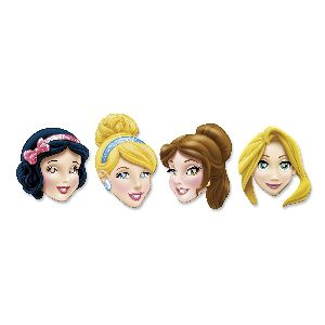Caretas princesas pack 4 unidades