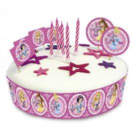 Kit decoracion tarta velas princesas