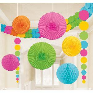 Kit decoracion colgantes 9 piezas