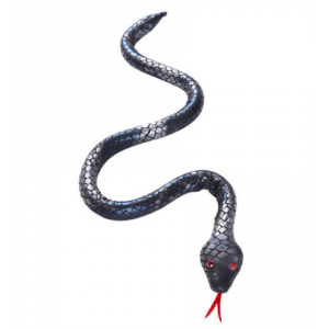 Serpiente negra moldeable 80cm