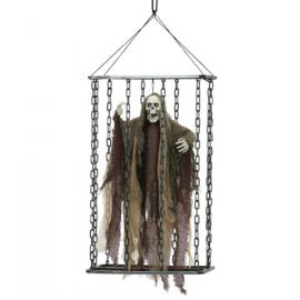 Esqueleto animado en jaula