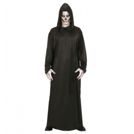 Disfraz la muerte con capucha negra