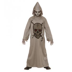 Disfraz skull calavera gris infantil
