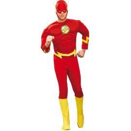 Disfraz flash musculos adulto