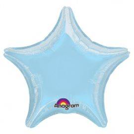 Globo helio estrella jumbo azul pastel
