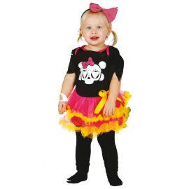 Disfraz bebe esqueleto niña 6-12 meses