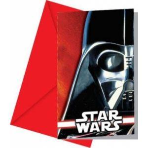 Invitaciones star wars pack 6 und