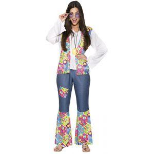 Disfraz hippie mujer campana