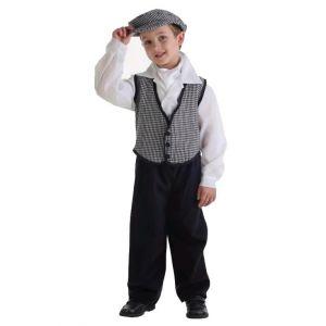 Disfraz chulapo chaleco infantil con camisa