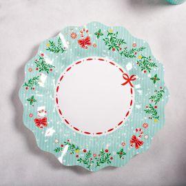 Platos dulce navidad pequeños 10 unidades