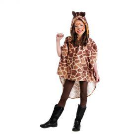 Disfraz poncho jirafa infantil