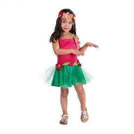 Disfraz hawaiana hada tutu infantil