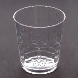 Vasos efecto cristal trasnparentes 8und