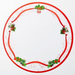 Bajo plato arbol de navidad 6 und