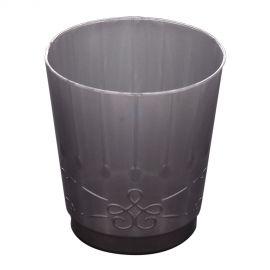 Vasos plateados detalle pack 8 und