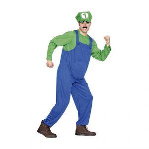 Disfraz fontanero verde adulto