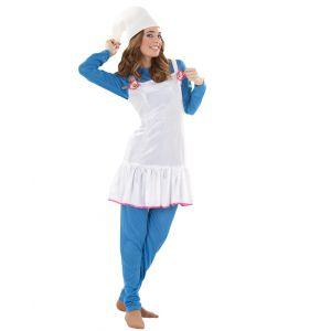 Disfraz duende azul chica