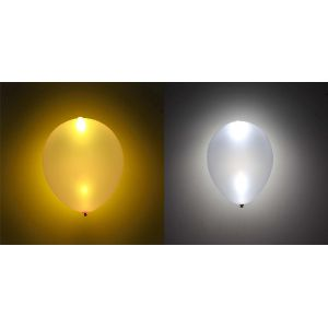 Globos con luz led 5 und oro y plata
