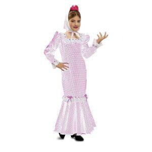 Disfraz madrileña chulapa blanco infantil