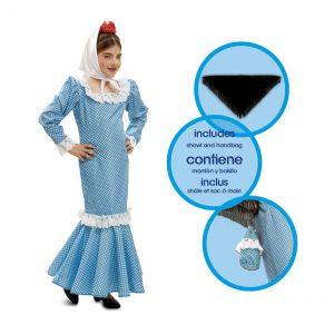 Disfraz madrileña chulapa azul infantil