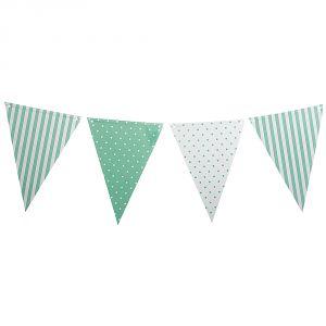 Banderin blanco y verde menta 3,6 metr