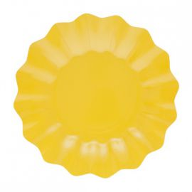 Platos postre amarillos 8 und