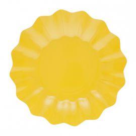 Platos carton amarillos 8 und