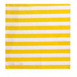 Servilletas lineas amarillas 20 und