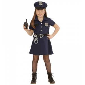 Disfraz policia niña con esposas