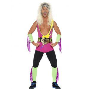 Disfraz lucha libre retro