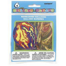 Globos estampado multicolor 6 und