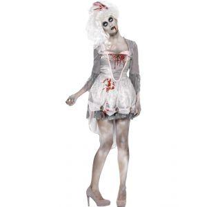 Disfraz novia zombie con tocado