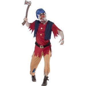 Disfraz enanito zombie adulto