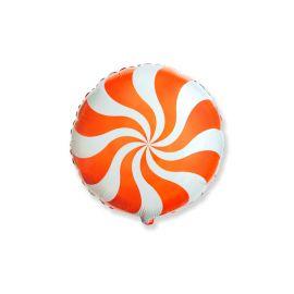 Globo helio caramelo naranja