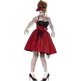 Disfraz rockabilly zombie chica