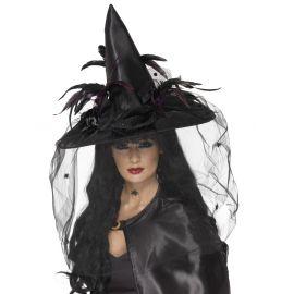 Sombrero bruja deluxe negro