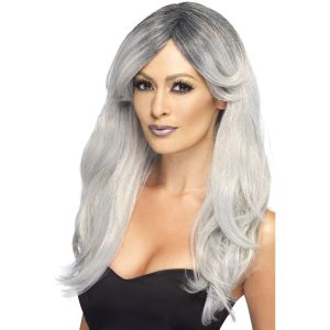 Peluca gris glamour