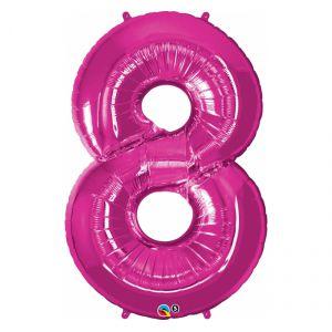 Globo helio numero 8 rosa